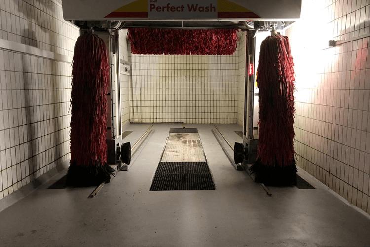 Waschhalle Shell Sulzbach nach Sanierung