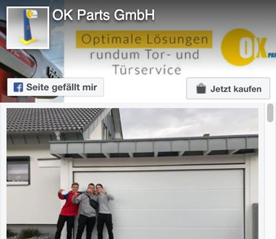 OK-Parts GmbH Facebook-Profil